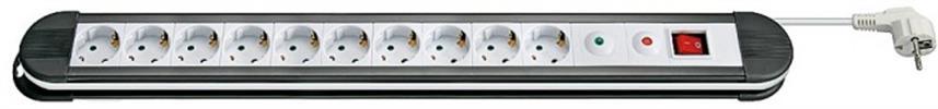 10fach Steckdosenleiste m.Schalter + Überspannungsschutz 1,4m weiss Goobay®