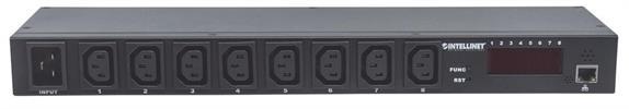 "19"" 8-fach IP-Steckdosenleiste / Smart PDU mit C13-Kaltgerätesteckdosen"