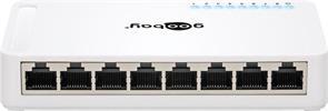 8Port Soho Gigabit Switch 10/100/1000Mbps mit Netzteil / Goobay®