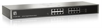 """GSW-1657 16Port GigabitSwitch 19"""" 10/100/1000Mbps LevelOne"""