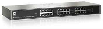 """GSW-2457 24Port GigabitSwitch 10/100/1000Mbps 19"""" LevelOne"""