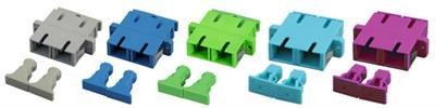 Kupplung SC/APC Duplex SM einteilig, grün, Keramikhülse SC/APC