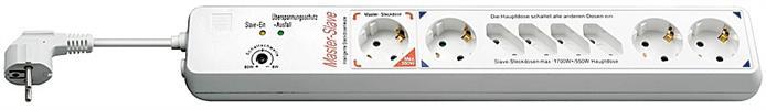 Steckdosenleiste mit ÜSS und MasterSlave Funktion 1,5m Kabel