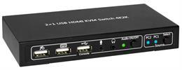 TECHly® HDMI KVM Switch mit USB 4K 2-Port